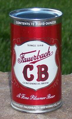 *Near Perfect* Fauerbach CB Flat Top Beer Can (Wisconsin)-USBC 61-25-Bottom Open