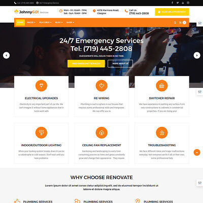 Professional Website Design Service for Electrician or Home Renovating Services