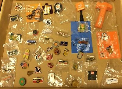 Home Depot Product, Brand and Vendor Pins, 40+ Diff Items & 1 Winston Cup #3 Pin