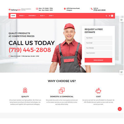 Professional Website Design Package for Home Improvement or Handyman Services