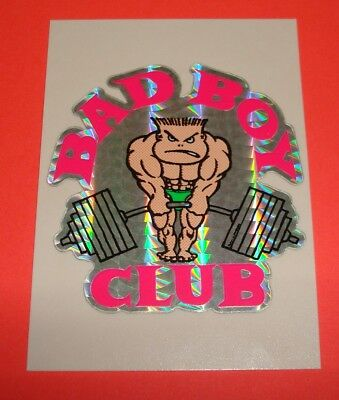 Older 1990's Vending Machine Prism Sticker Bad Boy Club Beach Surfgear Surfing