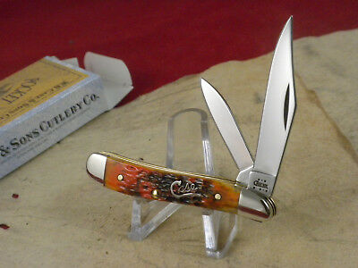 Case Xx Usa 6220 Ss Peanut Knife  Mint In (Nos) Box  Script Shield  Autumn Bone