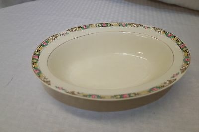 Antique Mount Clemens Pottery Mcp Co Mt Serving Bowl China Dish Deco Roses Mtc2