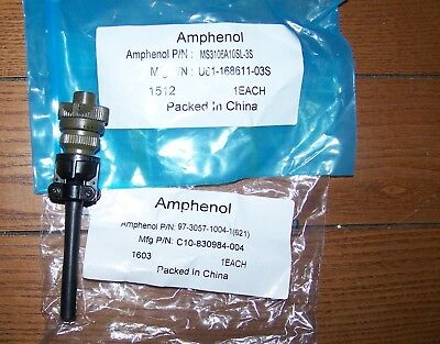 Amphenol MS3106A10SL-3S 3pole Circular Connector 97-3057-1004-1 Strain Relief
