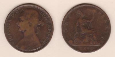 Great Britain One Penny 1890 ---  Gbaw