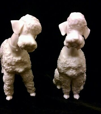 Lot of 2 HUTSCHENREUTHER PORCELAIN POODLE FIGURINE Marked: JHR Germany
