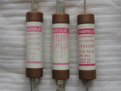 3 Gould Shawmat TRS200R Class RK5 200 Amp Fuses (NR)