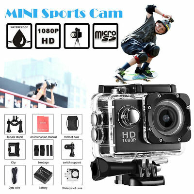 Action Camera A9 1080P HD 2.0'' Waterproof Outdoor Mini Cam go Sport Video pro