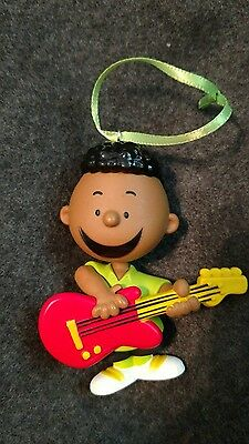 The Peanuts Gang Franklin on guitar Christmas Ornament-Anniversary collection