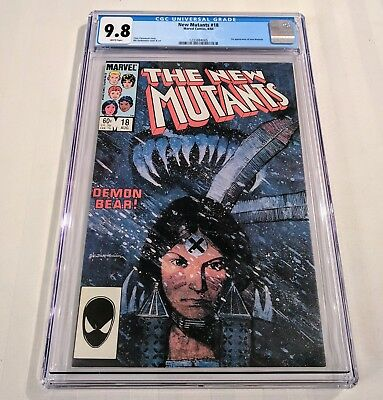 New Mutants #18 - CGC 9.8 - White Pages - 1st New Warlock - New