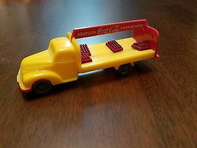 Vintage coca cola toy truck Wiking 1955 good condition with 4 cases