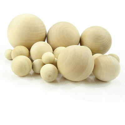 Natural Wooden Craft Wood Balls Round Sphere Craft Supplies 6mm to 75mm Diameter