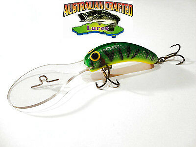 Australian Crafted Lures- 50mm slim invader green col;11, 30ft a.c.lures