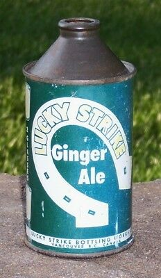 *Vintage* Lucky Strike Ginger Ale Cone Top Soda Can