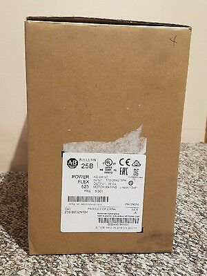 New ALLEN-BRADLEY 10HP PowerFlex 525 AC DRIVE 25B-B032N104 SERIES A