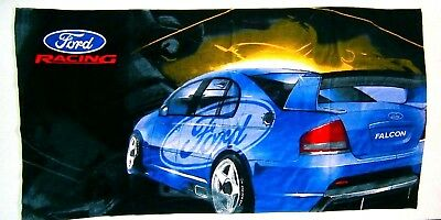 Ford Racing V8 Supercars Beach Towel  size approx 75 cm x 1.4 m brand new Rare