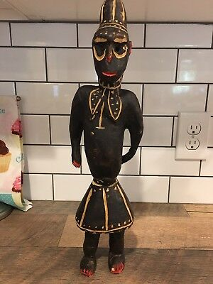 Old African Tribal Statue Primitive Art LOT Hand Carved Wood