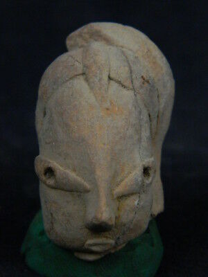 "Ancient Indus Valley Teracotta Head C.2500 Bc No Reserve Price  """"r723"""""