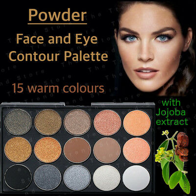 15 Colours CONTOURING PALETTE colors WARM Nude Matte powder eye contour Makeup