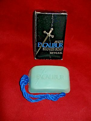 AVON Vintage 1969-71 EXCALIBUR MENS SHOWER SOAP ON A ROPE NEW IN ORIGINAL BOX