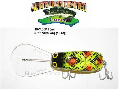 Australian Crafted Lures- cod 90mm invader wagga frog col; 40ft a.c.lures
