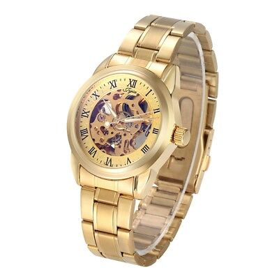 Jijia G8132 Business Male Hollow-out Dial Automatic Mechanical Watch F6M5