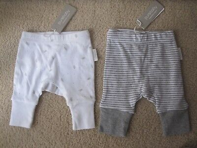 Purebaby leggings stretch pants organic cotton Unisex Size 0000 newborn BNWT x 2