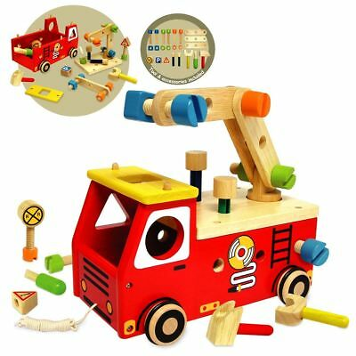 I'm Toy Fire Fighter Builder, Toy Fire Truck, Fire engine Toy, Wooden Fire Truck