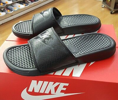 reputable site e9a87 838bc Nike Benassi Jdi Slide 343880 001 Black Black Men Us Sz 12