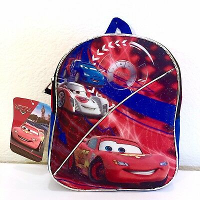 Disney Pixar Cars Boys Mini Canvas Graphic Bag Backpack Lightning McQueen Nwt