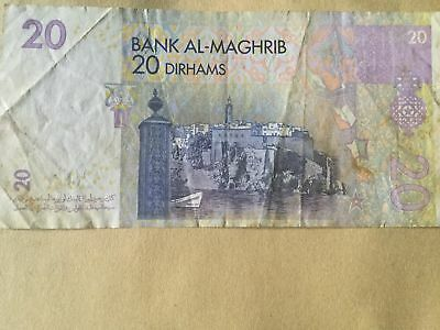 Morocco 20 Dirhams Bank AL-Maghrib see photos for Serial Number (3)