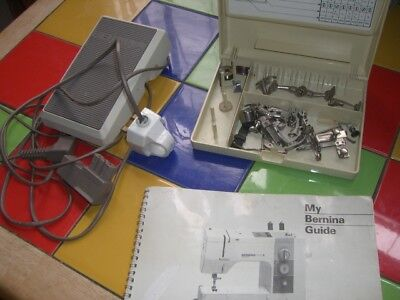 Bernina 910 365 FOOT PEDAL + Sewing Machine Attachments & Manual