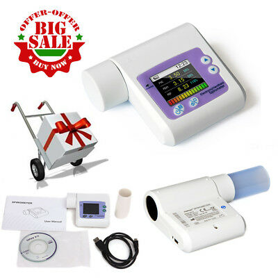 CE SP10 Handheld Digital Spirometer Lung Volume Pulmonary Function USB+ Software