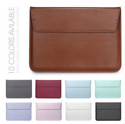 Case Sleeve Notebook Ultrabook PU Leather For MacBook Air Pro 11 12 13 15