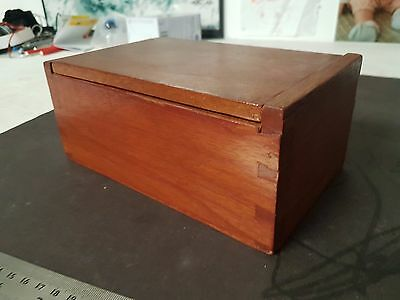 Vintage Timber Dovetail Box, Old Wooden Box, Antique Wooden Box