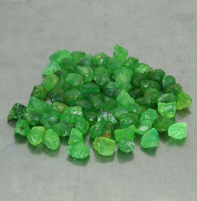50.64CT. 68piece(s) NATURAL MALI GARNET GROSSULAR ROUGH GREEN / S01574