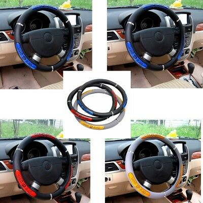 Auto Wheel Covers Steering Covers Artificial Leather Car Truck Interior DIY NEW