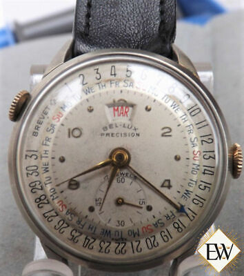 Serviced Vintage Rare Bel-Lux Precision Date-O-Graph Triple Date Day Date Watch