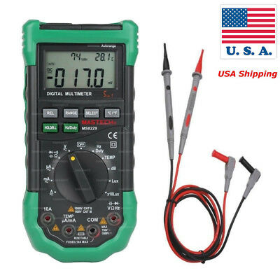 Mastech MS8229 Auto-Range 5-in-1 Digital Multimeter with DMM Lux Humidity   US