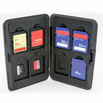 Practical  Aluminum Hard 8  Micro  Memory Card Storage Protect Holder 16 Slots