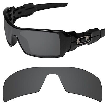 Tintart Polarized Replacement Lenses for-Oakley Oil Rig Carbon Black (STD)