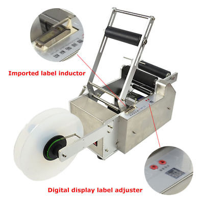 LT-50S Semi-Automatic Round Bottle Labeling Machine Printer With Date Power-Save
