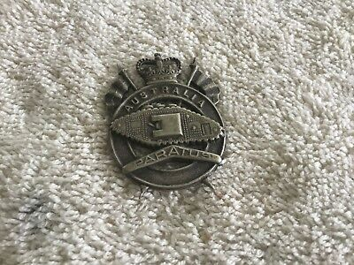 Royal Australian Armoured Corps Slouch Hat Badge • Stokes, Melb.