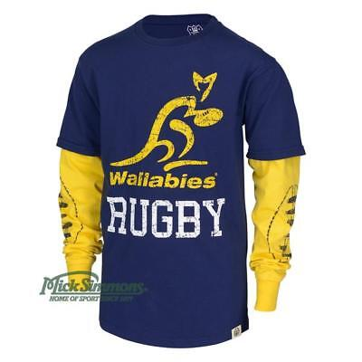 Wallabies Kid's Official Rugby Long Sleeve T-shirt