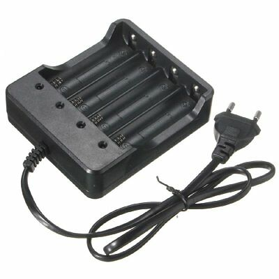 Smart 4 Slots 18650 Rechargeable Li-ion Battery Charger EU/US Plug