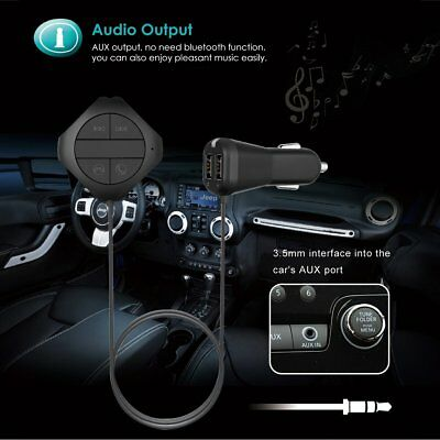 FM Transmitter Bluetooth Handsfree Car Kit MP3 Player & USB Charger Magnetic