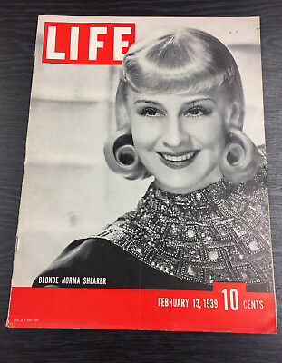 LIFE Magazine, February 13th 1939, Norma Shearer cover
