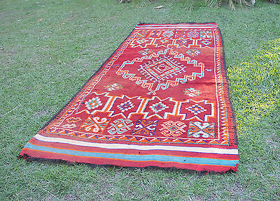 SUPERB LARGE OLD CHIADMA BERBER TRIBAL RUG MIDDLE ATLAS MOUNTAINS MOROCCO 1950s