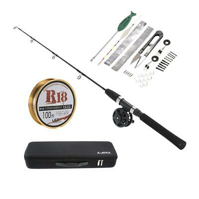 Ice Fishing Rod and Reel Combo 80cm Fishing Reel Pole Set with Accessories