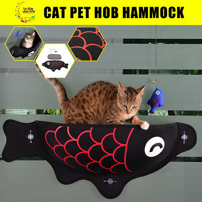 Cat Bed Window Seat Perch Kitty Mounted Pet Hanging Hammock Shelf +Suction Cup